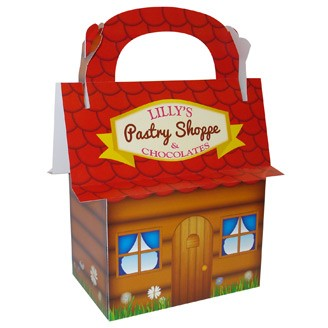 Custom Box - House Shape Handle Box