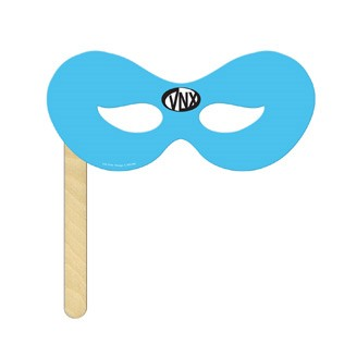 DMKF-4 - Superhero Mask on a Stick Printed Full Color