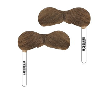 DMU103 - Mustache w/Paper Stick - Printed Full Colorly