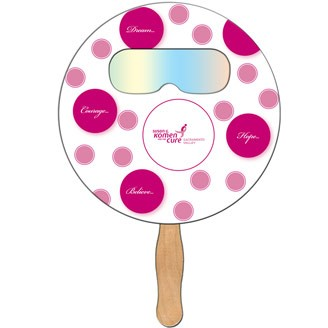 FSF-1 - Round Hand Fan with Fireworks Film