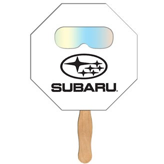 FSF-4 - Stop Sign Hand Fan with Fireworks Film