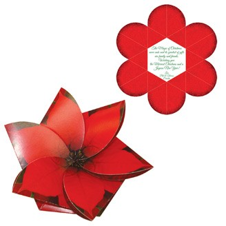 GC4P - Poinsettia Gift Card Holder/Holiday Card