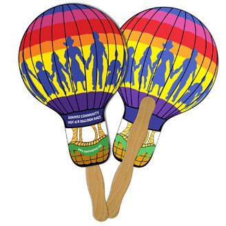 LF-4 - Balloon/Light Bulb Hand Fan Full Color (2 Sides)