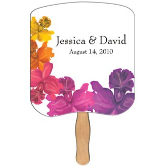 WLF-20 - Breadslice Wedding Keepsake Hand Fan