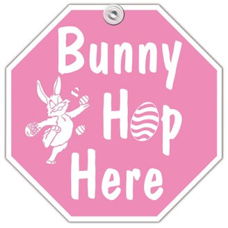 WS-8EAS - Bunny Hop Here Window Sign