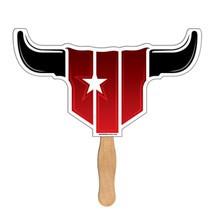 Longhorn Bull Hand Fan