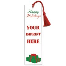 "2"" Rectangle Holiday Present Paper Bookmark"