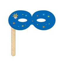 Round Mask on a Stick Printed Full Color