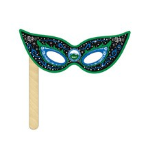 Cat Mask on a Stick Printed Full Color