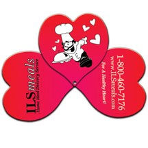 3 Part Expandable Heart Hand Fan
