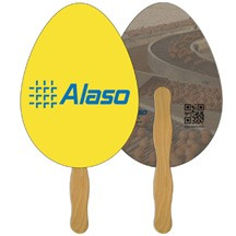 Egg Recycled Hand Fan