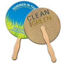 Round Recycled Hand Fan