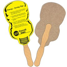 Neon Lightbulb Recycled Hand Fan