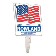 Flag Seed Stick Mini Hand Fan