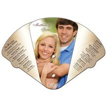 Four Part Expandable Hand Fan Full Color