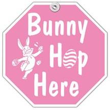 Bunny Hop Here Window Sign