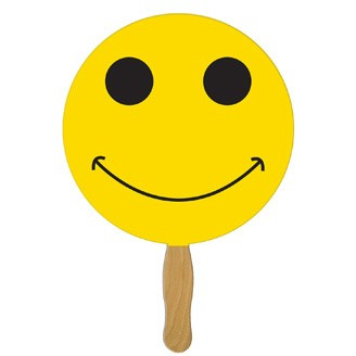 BF-39 - Smiley Face Hand Fan