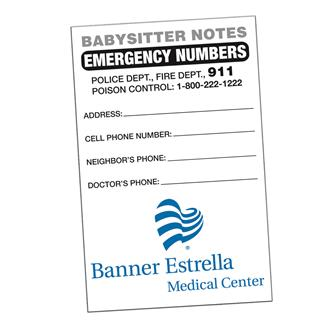 BSND - Babysitter Notes Full Color