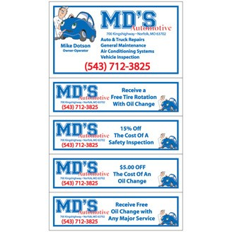 "CPM704 - 6"" x 3 1/2"" Coupon Magnets"