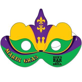 DM-23 - Mardi Gras Mask Full Color