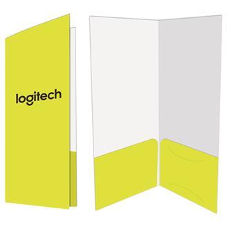 FL-403R - 2 Pocket Mini Folder w/Glued Pockets