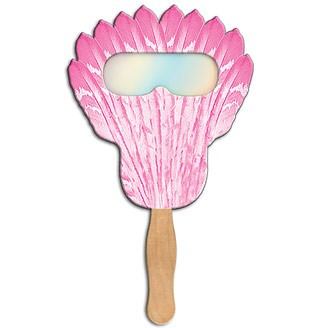 FSF-8 - Feather Hand Fan with Fireworks Film