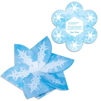 GC4SF - Snowflake Gift Card Holder/Holiday Card