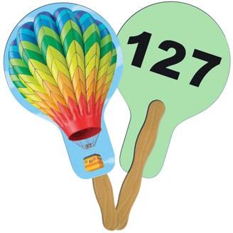 LFA-4 - Balloon/Light Bulb Auction Hand Fan Full Color
