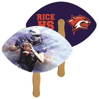 LF-144 - Football Hand Fan Full Color (2 Sides)