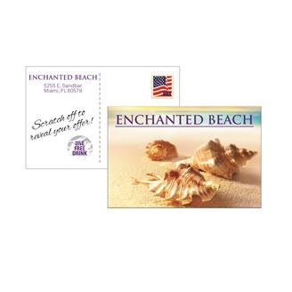 """PC501SO - Scratch Off Post Card 4"""" x 6"""" Full Color"""