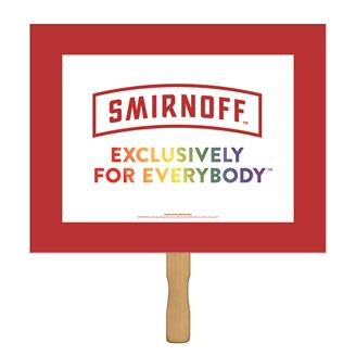 SHS-2 - Horizontal Rectangle Sandwiched  Rally Hand Sign
