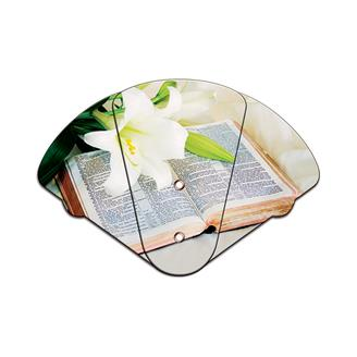 WEF-801 - Bible Inspirational Expandable Hand Fan Full Color Stock Graphic