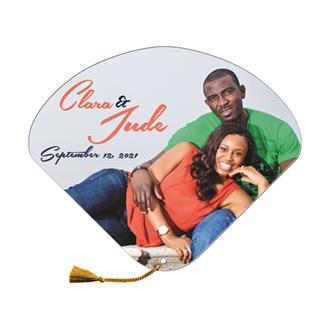 WHF-18 - Seashell Wedding Hand Fan tassel included
