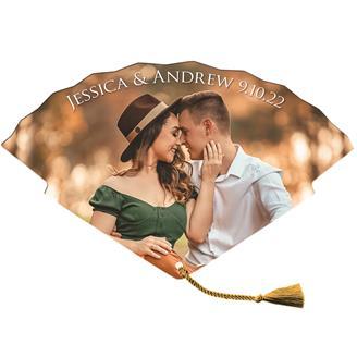 WHF-93 - Tassel Wedding Hand Fan tassel included