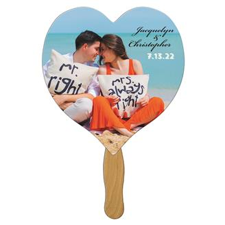 WLF-10 - Heart Wedding Keepsake Hand Fan