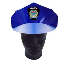 Police Hat W/Elastic Band Full Color
