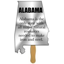 Alabama State Shape Hand Fan