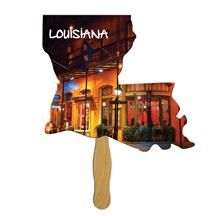 Louisiana State Shape Hand Fan