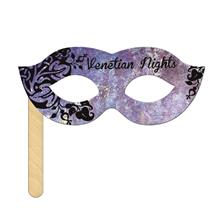 Venetian Mask on a Stick Printed Full Color