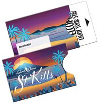 Open Thumb Gift Card Holder Sleeve Printed Full Color