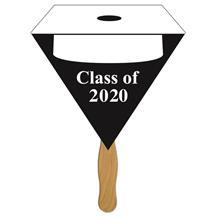 Triangular Graduate Hand Fan w/ White Hat