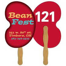 Bean Auction Hand Fan Full Color