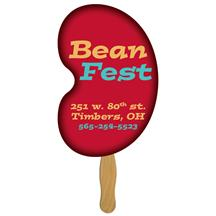 Bean Hand Fan Full Color (1 Side)