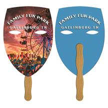 Mask Hand Fan Full Color (2 Sides)