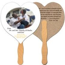 Heart Recycled Hand Fan