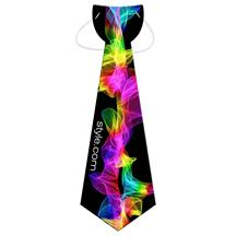 Large Tie w/ Elastic Band - Printed Full Color