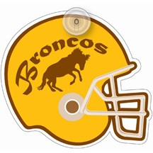 Football Helment Plastic Window Sign